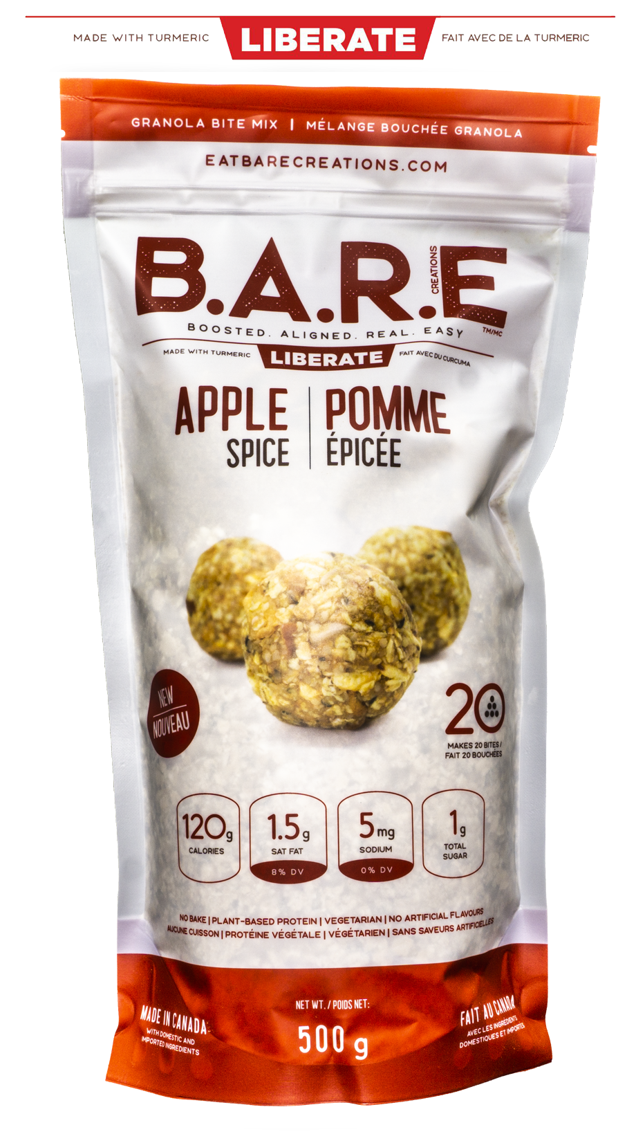 Apple Turmeric Granola Bite Bar Mix