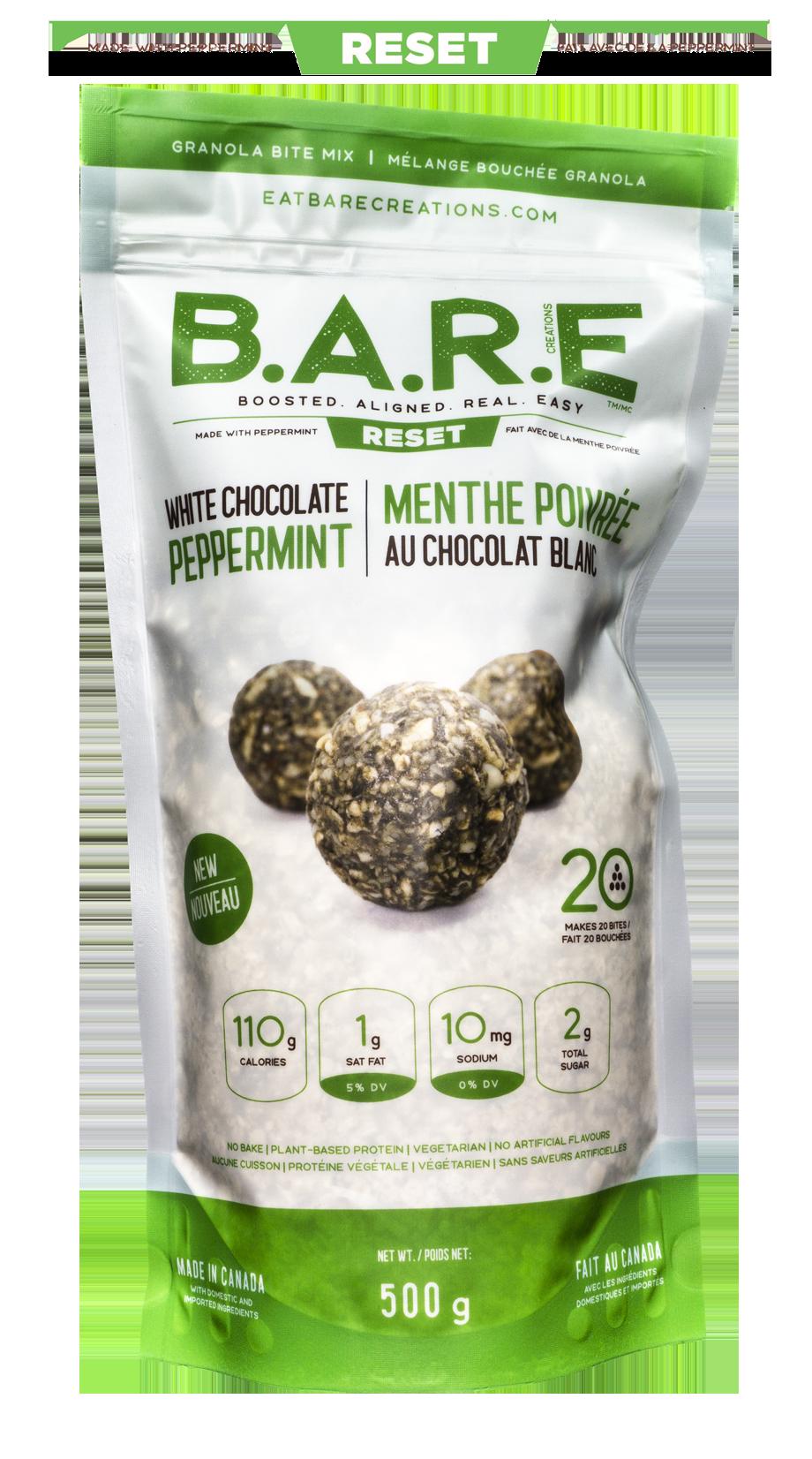 White Chocolate Peppermint Granola Bite Bar Mix